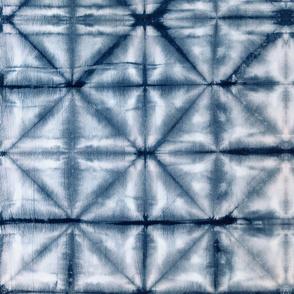 Shibori Diamonds 3 - large, indigo