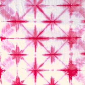 Shibori Diamonds 2 - large, pink