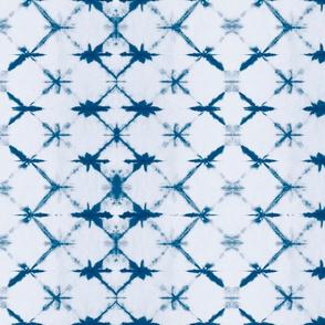 Shibori Diamonds 1 -medium, teal