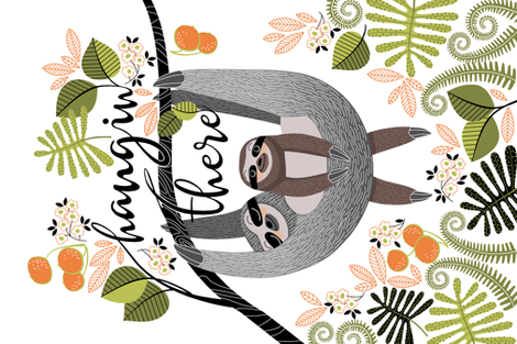 Hang in there fabric by cjldesigns on Spoonflower - custom fabric