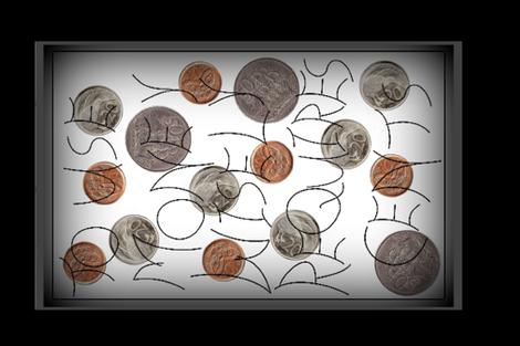 Money Cents fabric by b2b on Spoonflower - custom fabric