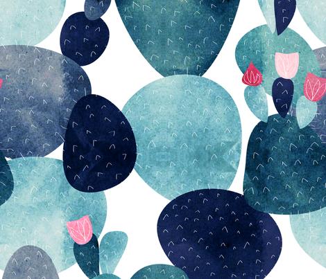cactus rose - JUMBO fabric by booboo_collective on Spoonflower - custom fabric