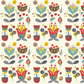 Nordic watercolour floral