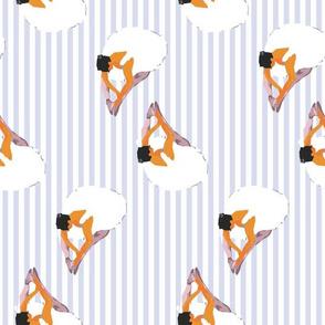 Ballerinas with vintage stripes seamless pattern background.