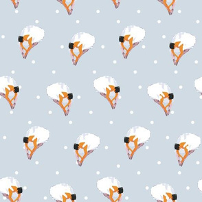 Ballerinas with Polka Dots seamless pattern background.