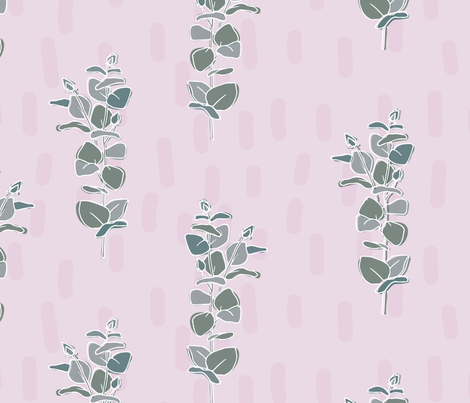 Blue Gum in 'Pink Bubblegum' fabric by rachelkatedarling on Spoonflower - custom fabric