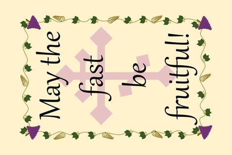 Orthodox Christian Fasting Pun fabric by st_tabithas_workshop on Spoonflower - custom fabric