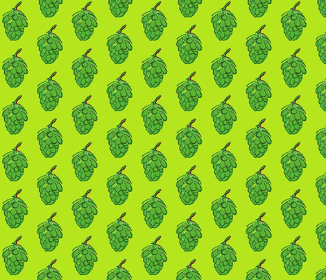 Hops! Beer Brewing size L fabric by cityette on Spoonflower - custom fabric