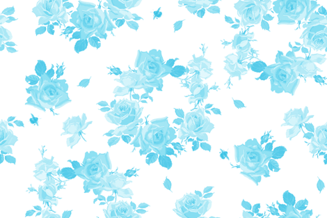 Louise aqua mono fabric by lilyoake on Spoonflower - custom fabric