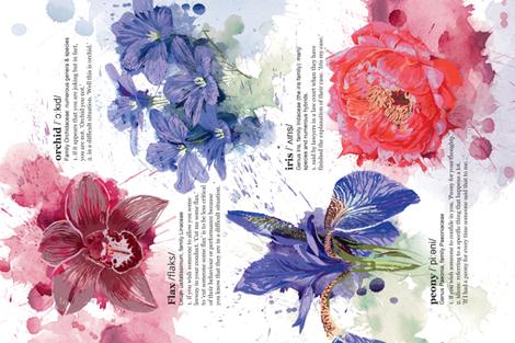 Floripunda_Teatowel_CharlotteAnne fabric by charlotte_anne on Spoonflower - custom fabric