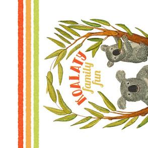 Koalaty family fun, Tea Towel
