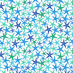 starfish - blue & green