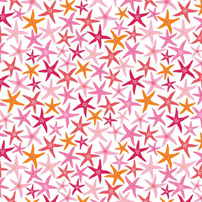 starfish - orange & pink