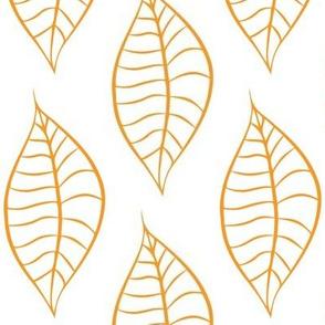 Geometric Orange Marmalade Leaves