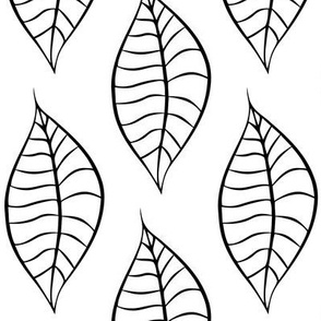 Geometric Black Leaves