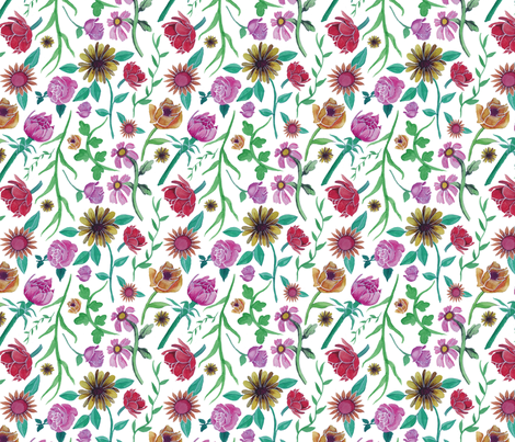 garden fabric by margiecampbellsamuels on Spoonflower - custom fabric