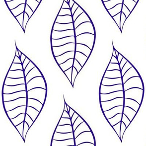 Geometric Blue Blueberry Leaves