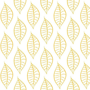 Geometric Yellow Mango Leaves