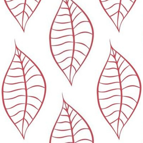 Geometric Berry Blush Leaves