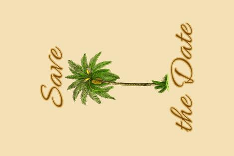 SavetheDate fabric by shesme on Spoonflower - custom fabric