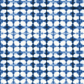Shibori Circles 1 - small, indigo blue