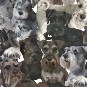 Schnauzer Collage Realistic Large
