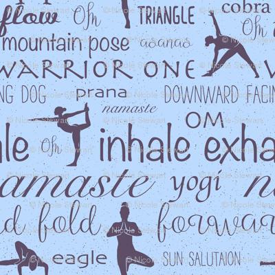 Namaste Yoga blue
