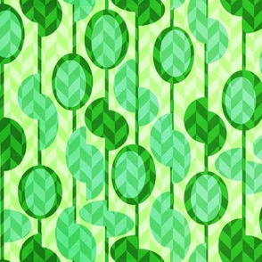 Green beads and seeds