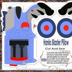 Hanks Blaster Pillow Blue