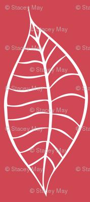 Leaves Berry Blush White