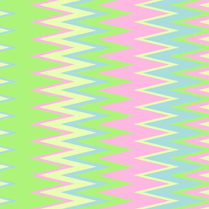 pastel color chevron zigzag stripes with lime green pink yellow & blue