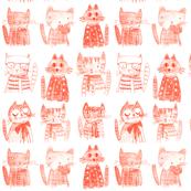 ARISTO CATS monochrome block print