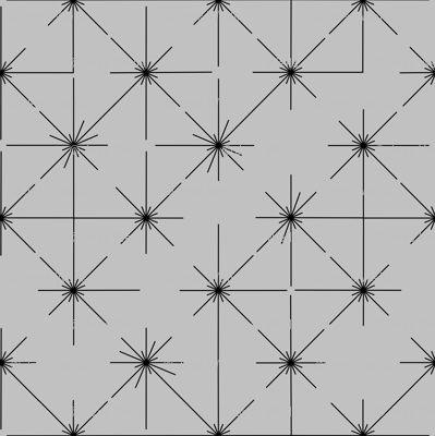 inlines in black on grey