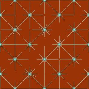 inlines in mint on burnt orange