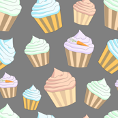 cupcakes on grey