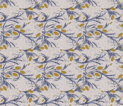 FRENCH LINEN THISTLE ROTATED fabric by holli_zollinger on Spoonflower - custom fabric