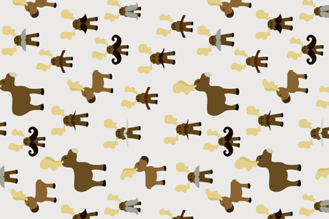 Moosestaches  fabric by svaeth on Spoonflower - custom fabric