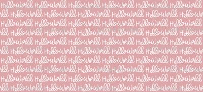 """Small """"Hello World"""" Hand-Lettered Cursive - Newborn Bow"""