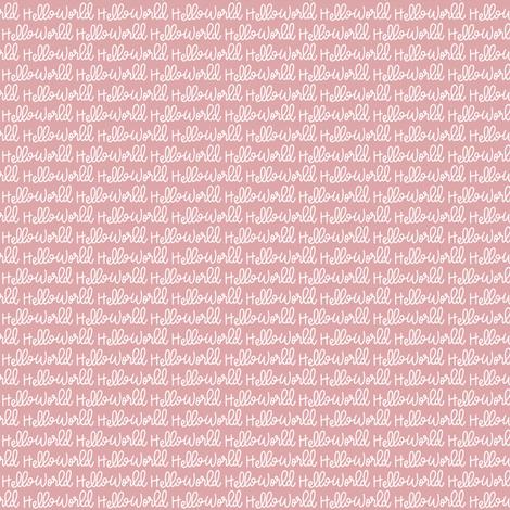 "Small ""Hello World"" Hand-Lettered Cursive - Newborn Bow fabric by sweeterthanhoney on Spoonflower - custom fabric"