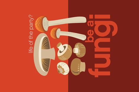 Be a fungi tea towel fabric by robinpickens on Spoonflower - custom fabric