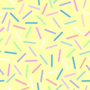 Pastel sprinkles yellow