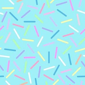 Pastel sprinkles blue
