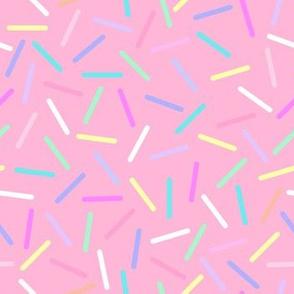 Pastel sprinkles pink