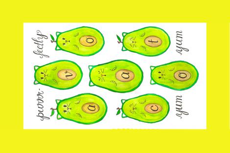 Avocato fabric by nicolettaarnolfini on Spoonflower - custom fabric