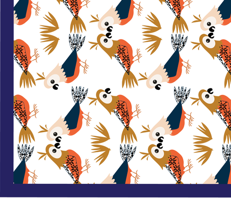 ShackYourFeathers fabric by dabr on Spoonflower - custom fabric
