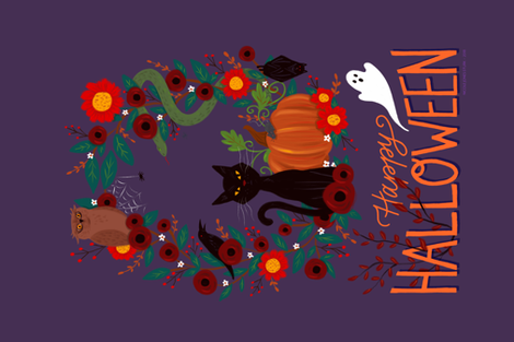 Spooky Animals fabric by nikijin on Spoonflower - custom fabric