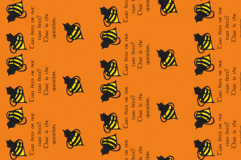 Two bees or not two bees? fabric by dizzybeedesigns on Spoonflower - custom fabric