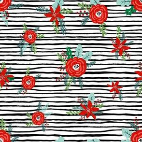 christmas fabric by the yard, christmas fabric, holiday fabric, christmas fabric spoonflower, christmas floral fabric, christmas quilt fabric, christmas fabric 2018, christmas fabric for quilting, christmas fabric, vintage christmas fabric - black stripe