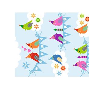 Happy Bird Day! Tea Towel