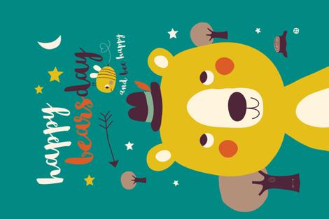 Happy BearsDay  fabric by bora on Spoonflower - custom fabric
